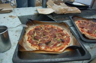 ピザのためし焼き
